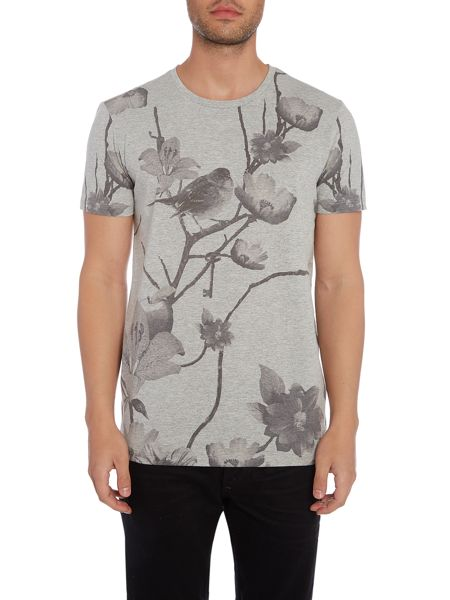 Selected Homme All Over Print Crew Neck T-shirt