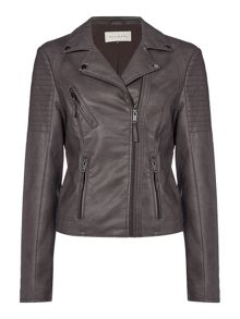 Maison De Nimes Rock Biker Faux Leather Jacket
