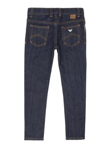 Armani Junior Boys Regular Fit Dark Wash Jeans