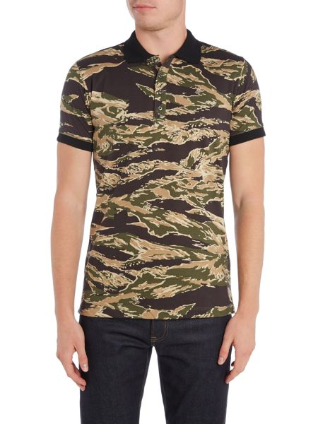 Diesel T-Coy allover camouflage print polo shirt