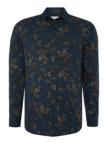 Selected Homme All Over Print Floral Shirt