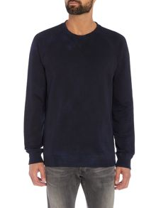 Diesel S-Bross treated dye wash crew neck sweat top