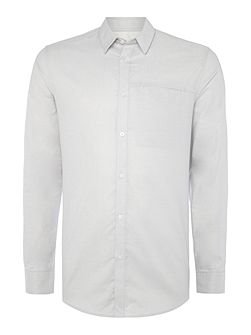 Plain Long-Sleeve Cotton Shirt