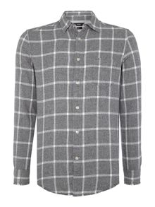 Diesel S-Tas brush check long sleeve shirt