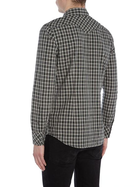 Diesel S-Zule small check long sleeve shirt