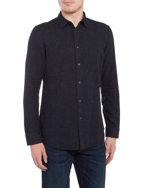 Diesel S-Five tonal geo print long sleeve shirt