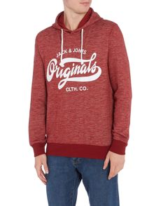 Jack & Jones Originals Large Logo Hooded Sweatshirt