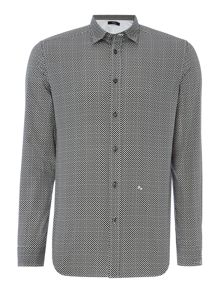 Diesel S-Moon diamond print long sleeve shirt