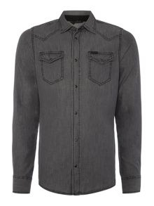 Diesel New-Sonora-E grey denim long sleeve shirt