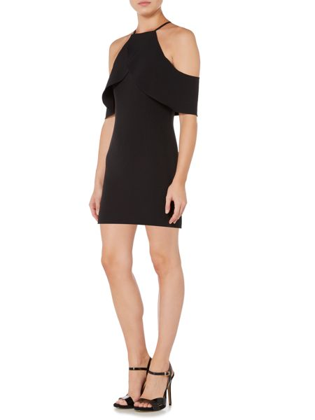 Bardot Thin Strap Cold Shoulder Bodycon Dress