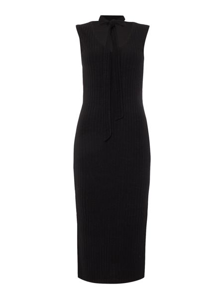 Bardot Sleeveless Jersey Midi with Tie Neck