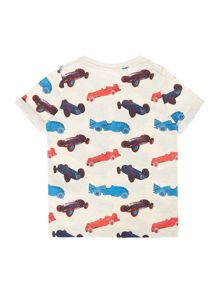 name it Boys Shortsleeve Stripe Car Motif T-Shirt