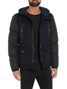 Diesel W-Unresty padded sleeve hoodied jacket