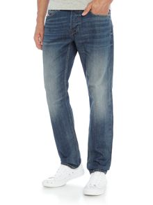 Diesel Larkee-Beex 857H regular tapered mid wash jeans