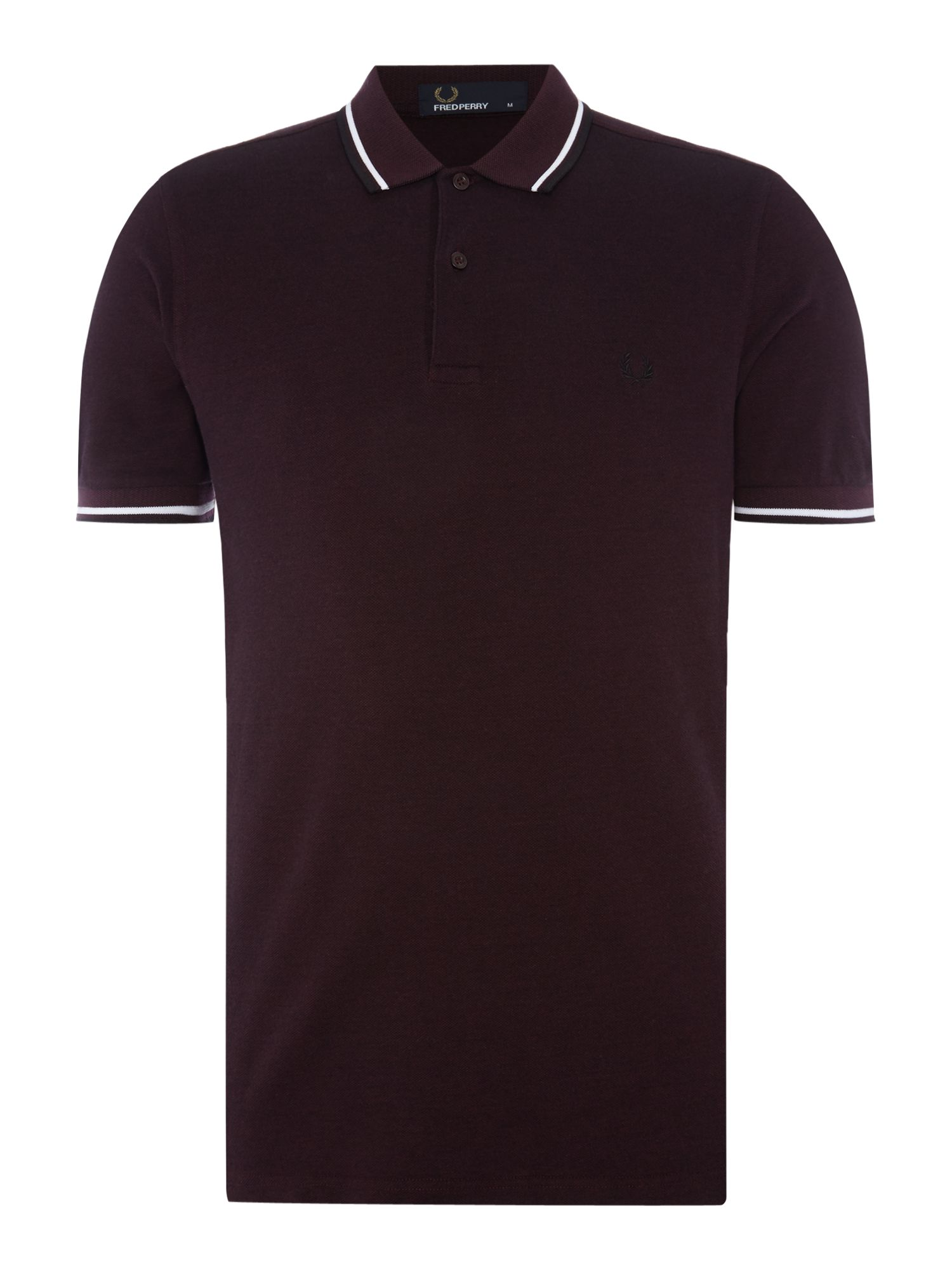Men's Fred Perry Twin tipped polo, Mahogany