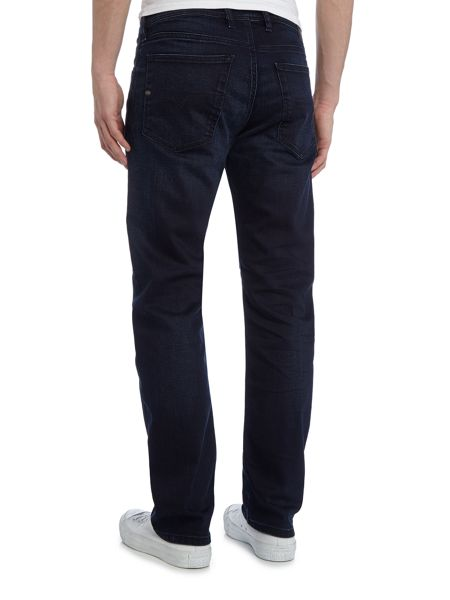 Diesel Waykee 877J straight stretch fit dark wash jeans