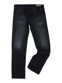 Diesel Waykee 858J straight stretch fit dark wash jeans