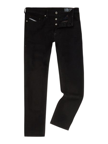 Diesel Buster 674N slim tapered washed black jeans