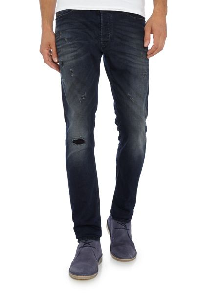 Diesel Tepphar 677K carrot fit washed indigo jeans