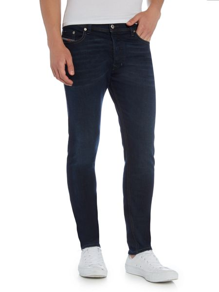 Diesel Tepphar 857Z carrot fit mid blue wash jeans
