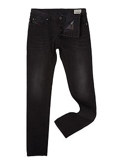 Sleenker 674S skinny fit washed black jeans