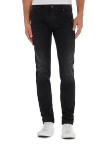 Diesel Sleenker 674S skinny fit washed black jeans