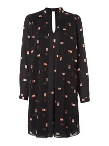 Biba Domino print double layer dress