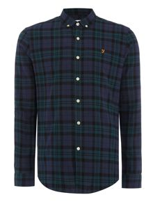 Farah Helford slim fit check shirt