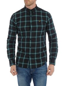 Farah Whitley slim fit large chech shirt