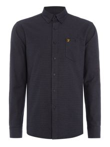 Farah Hambleton slim fit houndstooth shirt