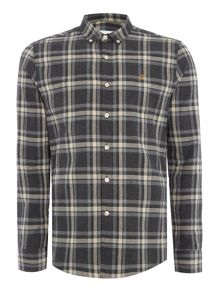Farah Fal slim fit brushed large check shirt