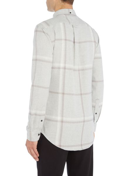 Farah Denton reagular fit oversized check shirt