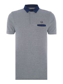 Fred Perry Colour block short sleeve oxford pique shirt