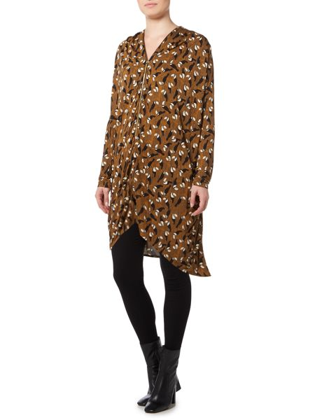 Biba Toucan printed zip up tunic