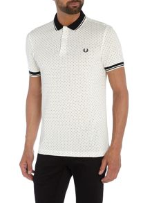 Fred Perry Polka dot short sleeve pique polo shirt