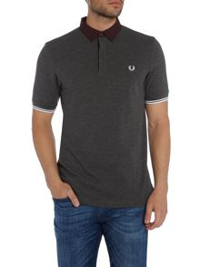 Fred Perry Woven collar short sleeve polo