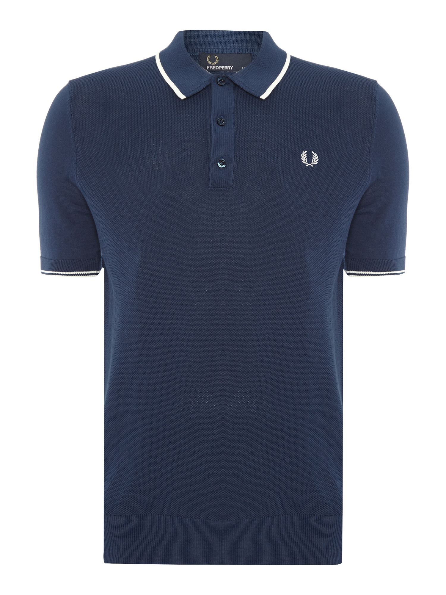 Mens Fred Perry Knitted polo shirt Blue