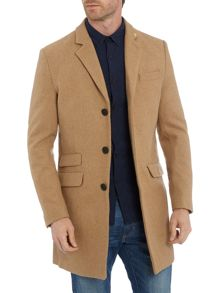 Farah Askern wool button front overcoat
