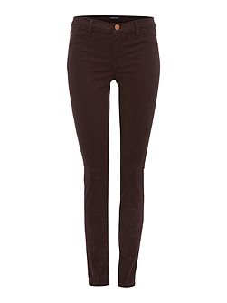 Mid rise lux sateen skinny