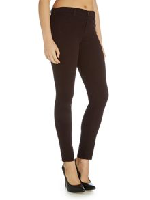 J Brand Mid rise lux sateen skinny