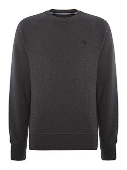 Loopback crew neck sweat