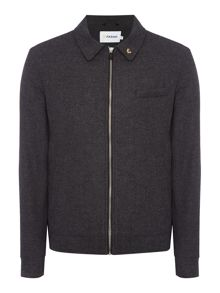 Farah Shepherd zip collared wool harrington jacket