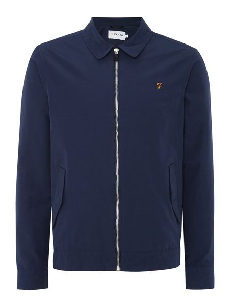 Farah Edgware nylon zip through harrington jacket