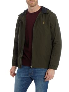 Farah Newbern hooded zip through nylon jacket
