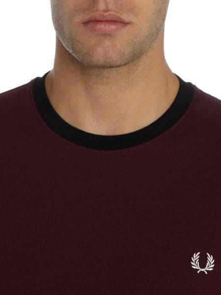 Fred Perry Marl colour block tshirt