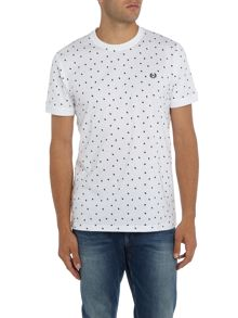 Fred Perry Shadow polka dot tshirt