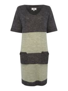 Noa Noa Wool blend dress with short sleeve