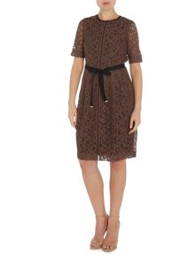 Noa Noa Lace dress with short sleeve and belt