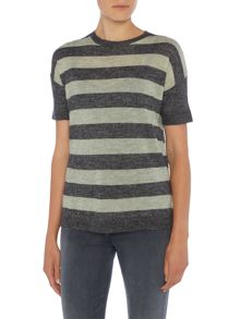 Noa Noa Wool blend pullover with short sleeve