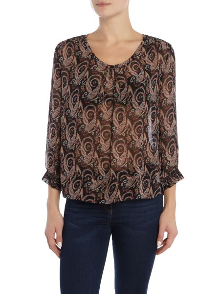 Noa Noa Antique paisley blouse with 3/4 sleeve